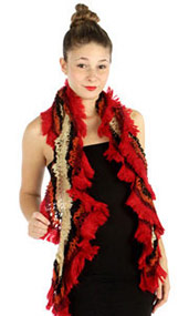 wholesale-Knit-Ruffle-Scarves
