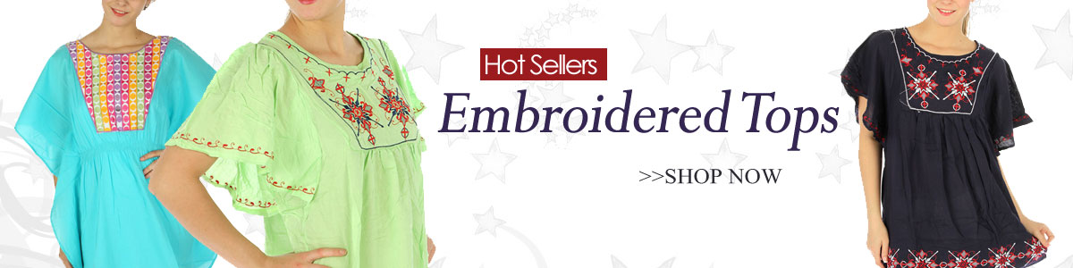 Wholesale Embroidered Tops | fashionUnic