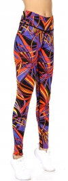 Wholesale F09 Colorful winds print running tights