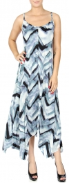 Wholesale K58A Abstract chevron handkerchief dress BLUE