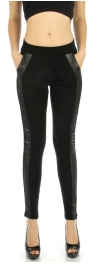 wholesale A09 Tuxedo stripe pocket liquid leggings S/M