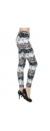 wholesale Q65 Plaid cloud soft brush velour leggings