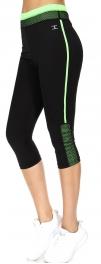 Wholesale WA00 Mesh and solid capri pants N.Green
