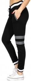 wholesale Knee striped jogger pants Black fashionunic