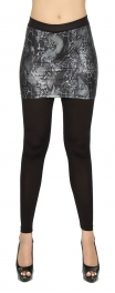 wholesale B27 Skirt foiled leggings skin Black S/M
