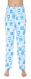 Wholesale U08 Pajama pants Square and hearts Blue