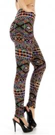 Wholesale C07 Winter theme print fur leggings GN