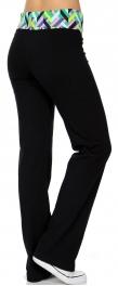 Wholesale N45 Optical illusion cottonblend pants Green/Pink