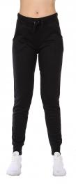 Wholesale B21A Cotton blend solid joggers Black