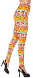 wholesale E17A Horizontal geometric print leggings