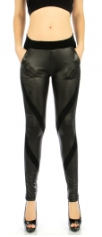 wholesale Q65 Narrow panel pocket liquid leggings S/M