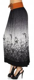 Wholesale U15B Elastic band pleated skirt Black
