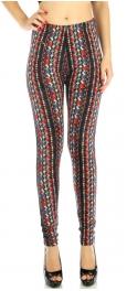 wholesale Q64 Vertical stripe fleece leggings