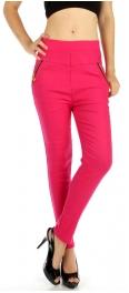 wholesale C16 Cotton fur zipper pocket Jeggings Black M