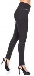 Wholesale S12C Zip detail skinny pants Dark Grey
