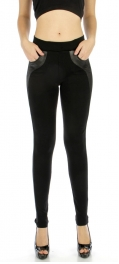 wholesale Q65 blocked pocket liquid leggings S/M