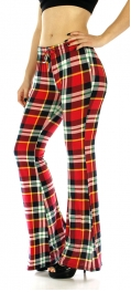 Wholesale A09 Bell bottom pants check