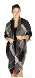 Wholesale O49B??Large??plaid print??square blanket scarf BK