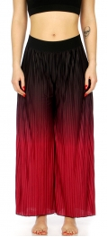Wholesale C06A Super soft pleated ombre palazzo pajama pants Fuschia