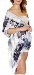 Wholesale J04D New York print oblong scarf