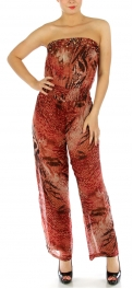wholesale Stud embellished strapless jumpsuit BK/WH S