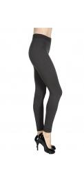 Wholesale S85D Solid thermal leggings Large BK