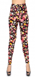Wholesale T10A NEW MIX Soft brushed print leggings Flower