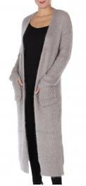 Wholesale Q23-1C Maxi sweater cardigan Light grey