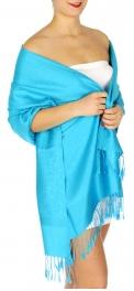 wholesale D31 Whole Jacquard Pashmina 18 Turquoise
