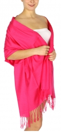 wholesale D01 Silky Light Wedding Pashmina 21 Hot Pink