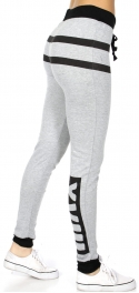 wholesale Striped XVIII jogger pants H.Grey fashionunic
