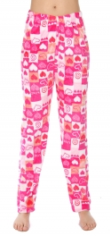 Wholesale U08 Pajama pants Square and hearts Pink