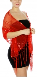 Wholesale H48B Butterflies sequined mesh shawl BK