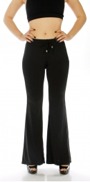 Wholesale A05 Black bell bottom summer pants