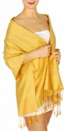 wholesale D33 Whole Jacquard Pashmina 47 Yellow