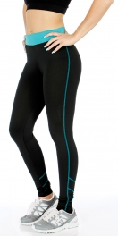 wholesale K56 Neon accent striped active pants Black
