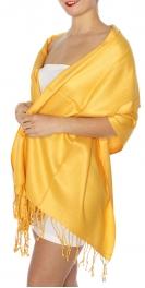 wholesale D45 Silky Solid Wedding Pashmina 41 Marigold