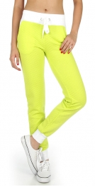Wholesale K38 Solid waistband quilted jogger pants WT
