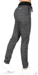 Wholesale E06 Coco limon long cotton jogger pants H.Black