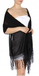 Wholesale O20B Woven solid color Fringed Scarf White