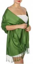 wholesale D45 Silky Solid Wedding Pashmina 59 H Green