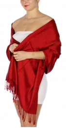 wholesale D36 Solid HD Wedding Pashmina 06 Burgundy