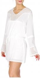 Wholesale K52A Cotton Lace neckline top WHITE