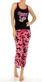 wholesale  heart camouflage cotton pajama set 87095-1