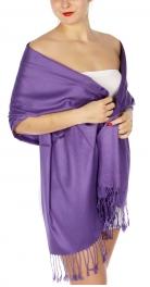 wholesale D36 Solid HD Wedding Pashmina 35 Purple