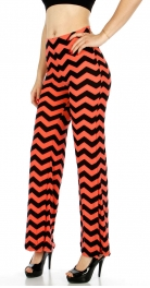 Wholesale A11 Chevron Print Palazzo Pants CO