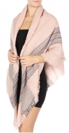 Wholesale P27 Plaid blanket scarf Pink