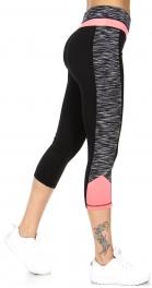 Wholesale K38 Neon marled side active capri pants CO