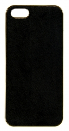 wholesale N38 Calf hair cell phone case Black