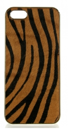 wholesale N38 Zebra calf hair cell phone case Brown
